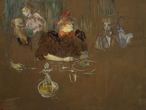 Dinner at the House of M. and Mme Natanson, Toulouse-Lautrec, 1898 - Private Collection | With Friends | Social Life and Life in Society | From Drinking to Savoir-boire | Wine and Painting | The Virtual Wine Museum
