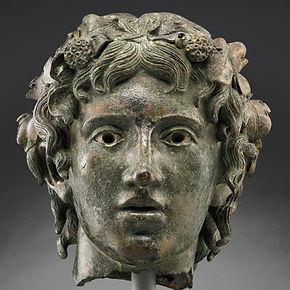 Tête provenant d'une statue de Bacchus jeune - The Getty Villan Malibu, CA