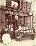 """Eugène Atget, """"Au Port Salut"""" - Cabaret, rue des Fossés St Jacques, 5e arr., 1903 - Musée Carnavalet, Paris   Le Musée Virtuel du Vin - The Virtual Wine Museum"""