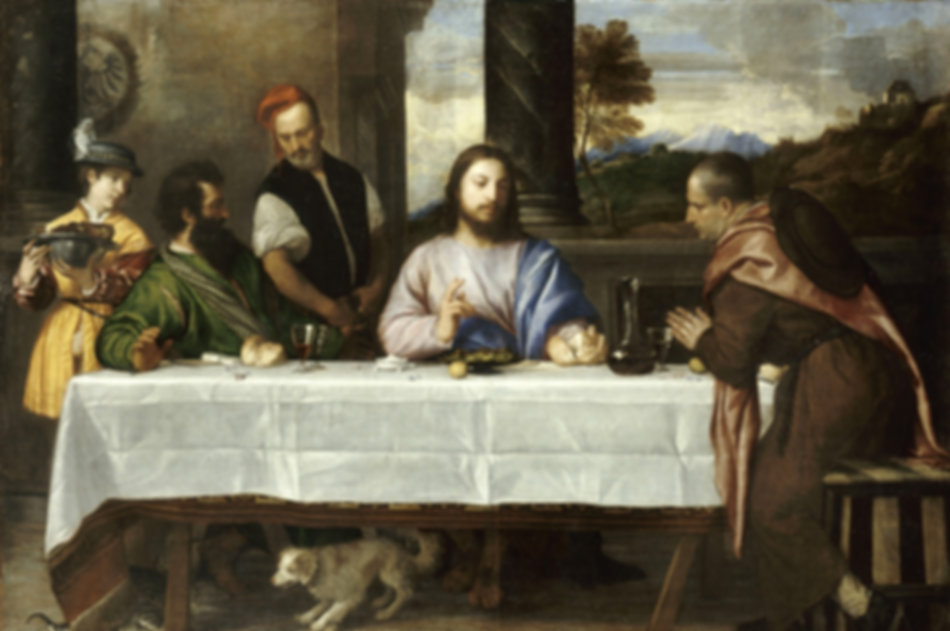 """Supper at Emmaus"", Titian, ca. 1530 - Louvre Museum, Paris 