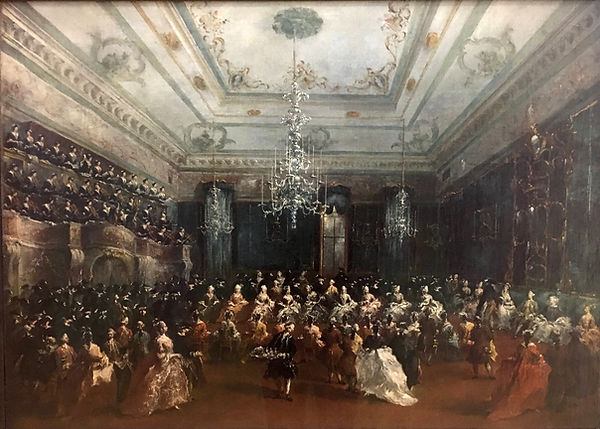 Ladies Concert at The Philarmonic Hall, Francesco Guardi, 1782 - Alte Pinakothek, Munich, Germany | Political Life | Social Life and Life in Society | From Drinking to Savoir-boire | Wine and Painting | The Virtual Wine Museum