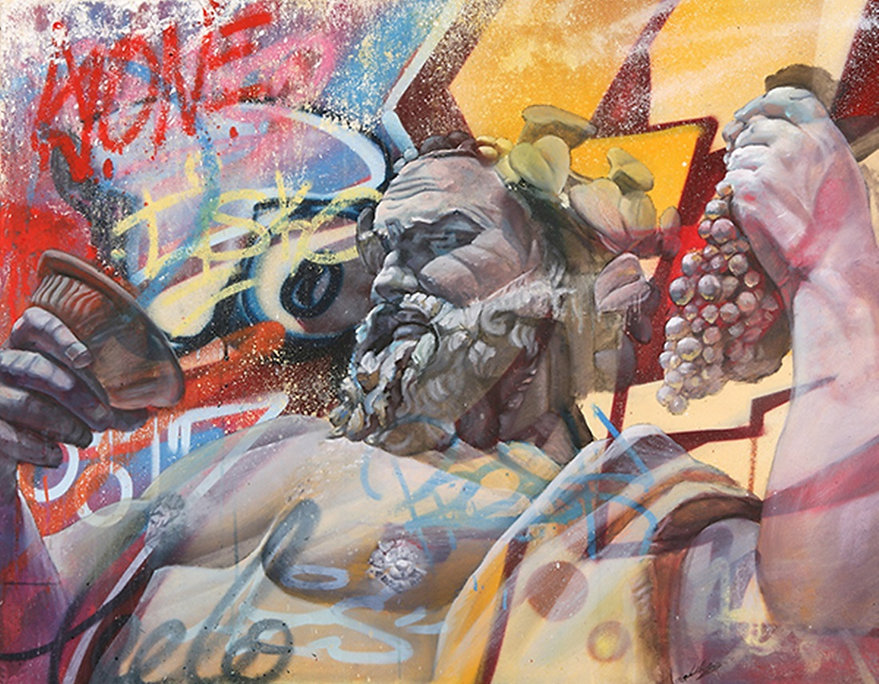 Bacchus and Wine | Graffiti | Street Art | The Virtual Wine Museum