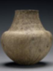 Jarre à col, Culture de Grotta-Pelos, Cyclades, 3000-2800 av. J-C. Terre cuite, Getty Museum, LA