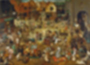 The Fight Between Carnival and Lent, Pieter Brueghel the Elder, 1559 - Kunsthistorisches Museum, Vienna, Austriae | Celebrations and Social Life | Social Life and Life in Society | From Drinking to Savoir-boire | Wine and Painting | The Virtual Wine Museum
