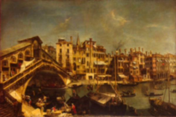 The Ria, Michele Maieschi, 1740/43 - L'Ermitage, Saint Pétersbourg, Russieto Bridge from the Riva del Vin, 1740/43 - The Hermitage, St Petersburg, Russia