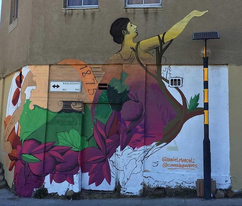 Promotion des vins du Chili, Daniel Marceli - Valparaiso | Bacchus et le Vin | Graffiti | Street Art | Exposition virtuelle | Le Musée Virtuel du Vin