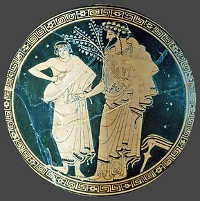Jeune homme versant du vin à Dionysos - Musée du Louvre