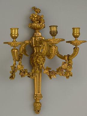 Bras de lumière, bronze doré - The Meropolitan Museum of Art