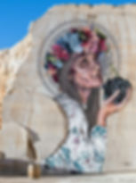 La Femme au raisin, Hopare, 2017 - Villars-Fontaine, Bourgogne | Bacchus et le Vin | Graffiti | Street Art | Exposition virtuelle | Le Musée Virtuel du Vin