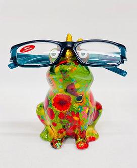 Frosch als Brillenhalter ( ohne Brille )