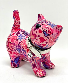 Sparkasse als Katze Rosa