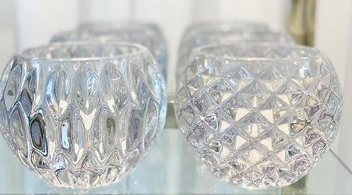 Teelicht   Vase aus Glas