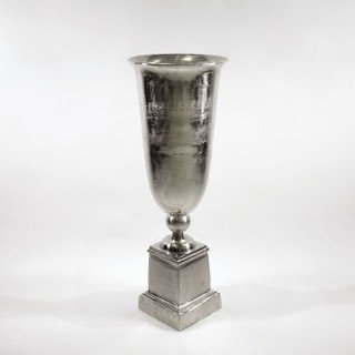 Vase in Silber Optik