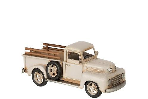 Pickup Antique Metal Blanc
