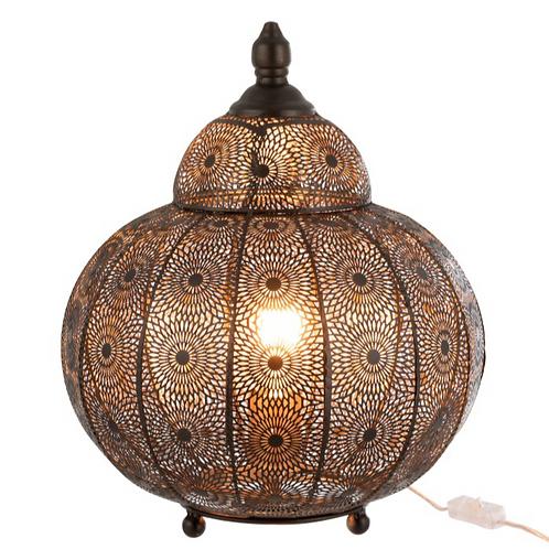 Lampe Table Oriental Fer Noir