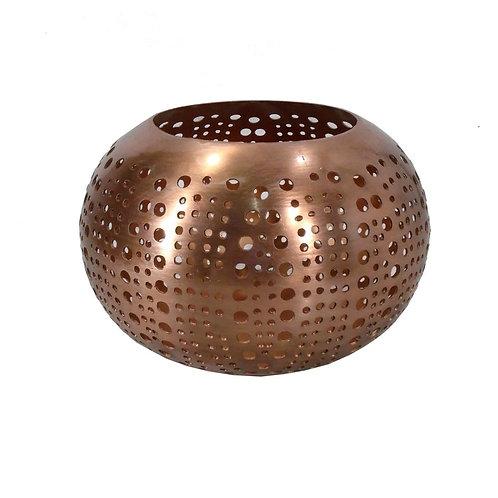 La sphère à double cercle - Cuivre - M (15CM)