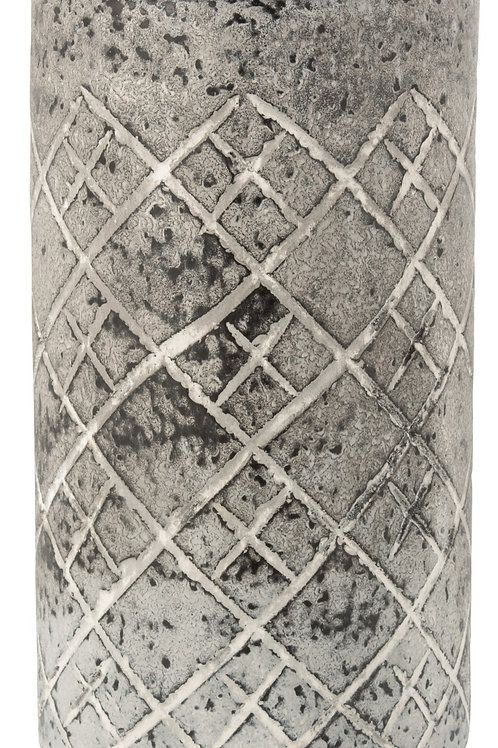 Vase Quadrille Verre Gris
