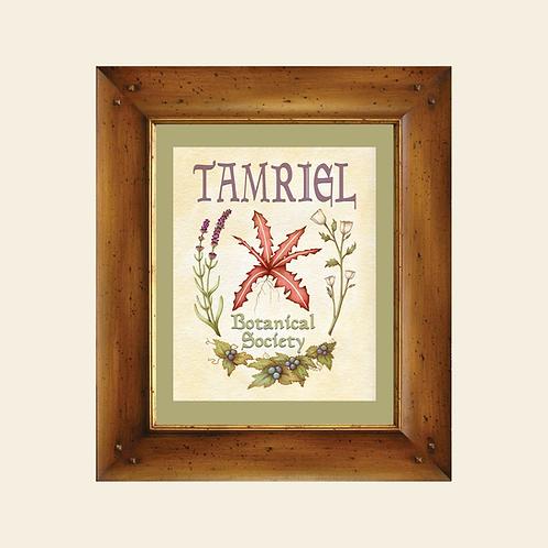 Tamriel Botanical Society Elder Scrolls Art Print - Skyrim