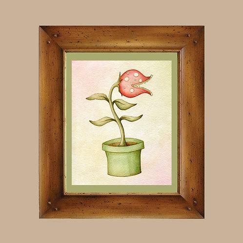Piranha Plant - Mario Bros - Little Shop of Horrors Art Print