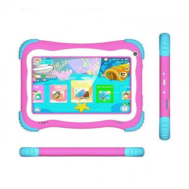 "Tablet Stylos Taris Kids Rosa 7"" Quadcore 8gb 1gbram 8.1"