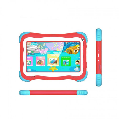 "Tablet Stylos Taris Kids Rojo 7"" Quadcore 8gb 1gbram 8.1"