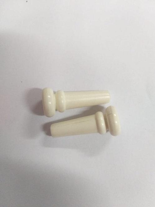 Boton Plástico para cargador Guitarra blanco