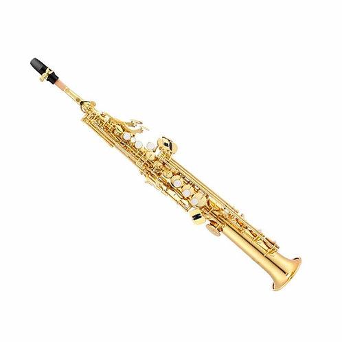 Saxofon Soprano Dorado Lark c/ estuche