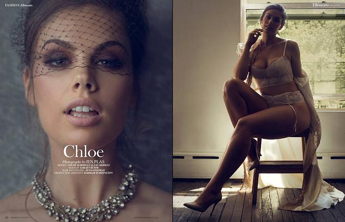 Chloe Marshall in Ellements Magazine