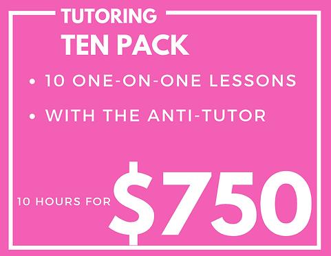 Tutoring Ten Pack