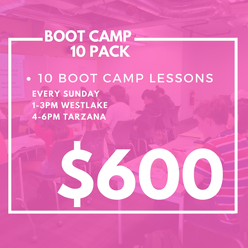 10 SAT/ACT Boot Camps