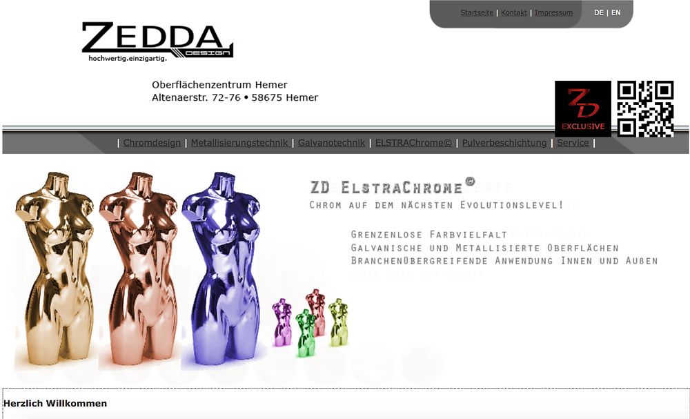 Altes Webdesign von zedda-design.de