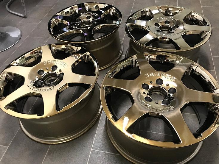 BRABUS Felgen Gold vergoldet Mercedes AMG Brabus 17 Zoll Original