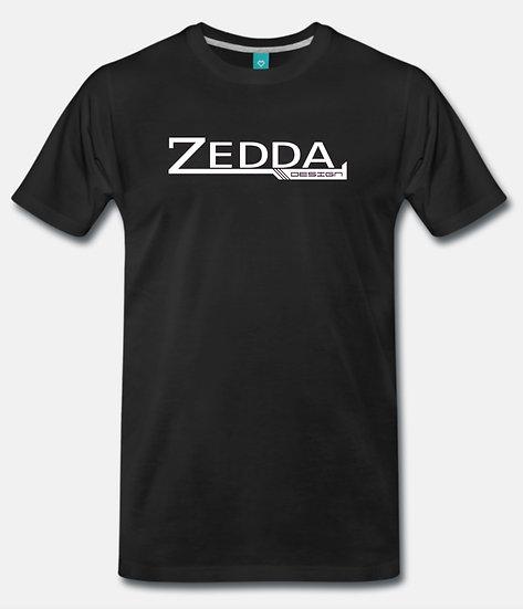 ZEDDA DESIGN Herren T-Shirt Fan Shirt Schwarz Weiss Rosa S M L XL XXL