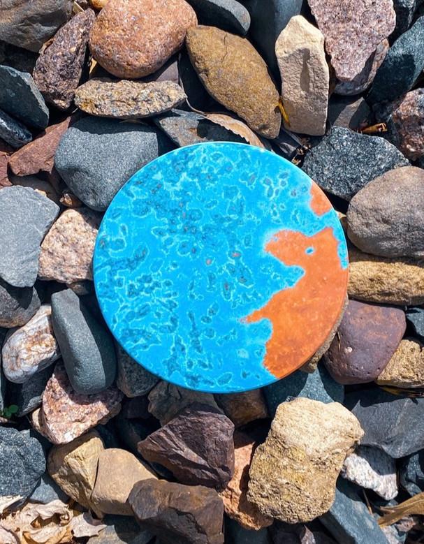 Sea Blue + Copper Inspired Coasters