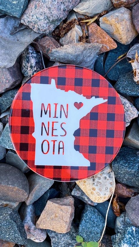Minnesota Plaid Inspired Coasters