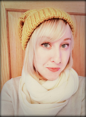 Goldenrod Checkered Slouchy Hat