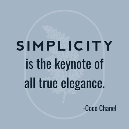 Keynote of elegance