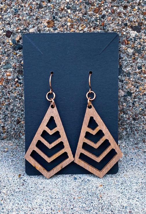 Wooden Triangle Fashion Earrings