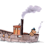 Steam boat.