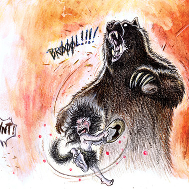 Bear and boar