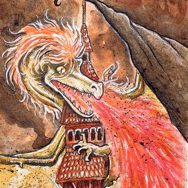 Dragon at church