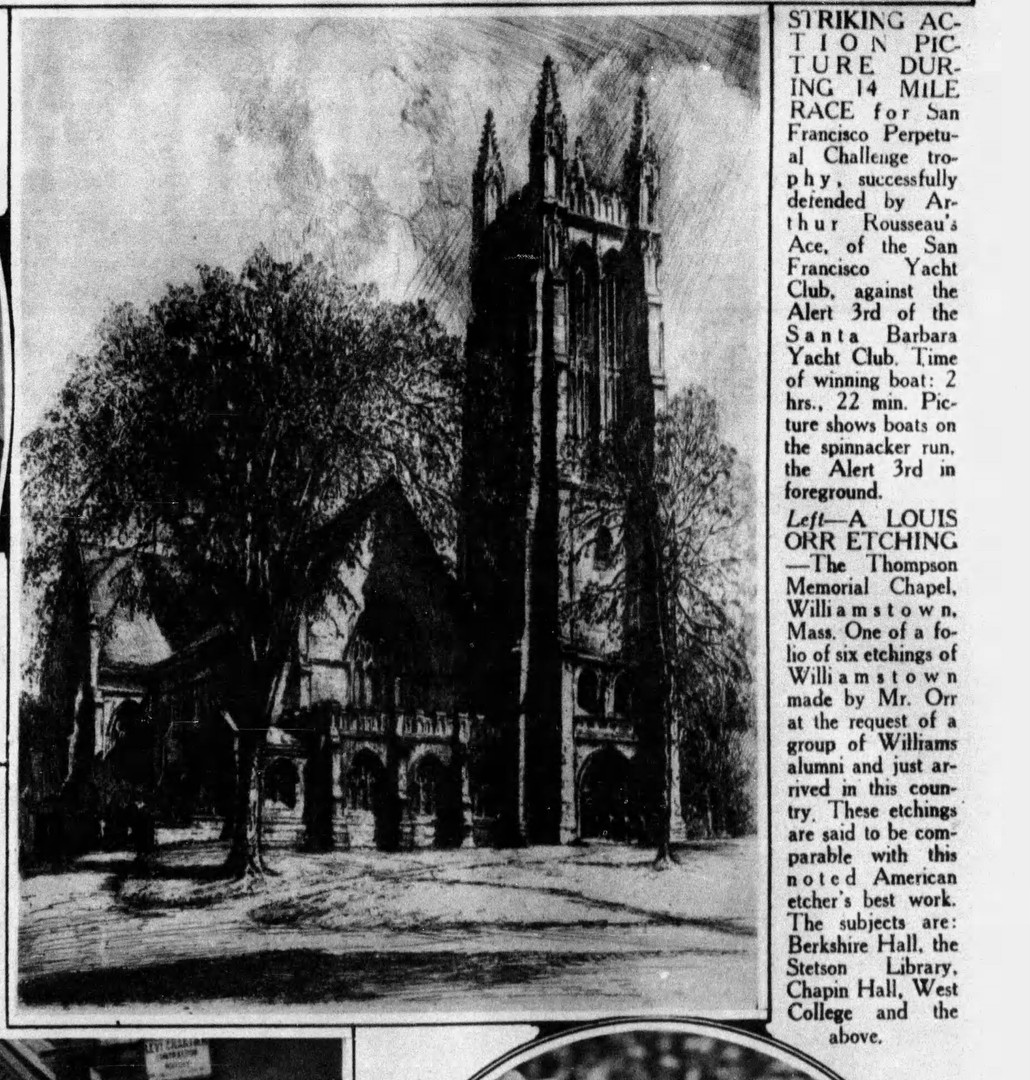 """The Thompson Memorial Chapel"" The Hartford Courant, September 12, 1926"