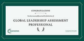 Global Leadership Assessment certificate