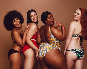 Group of women of different race, figure