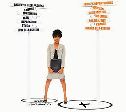 Woman Comfort Zone (Anxiety, Failure, De