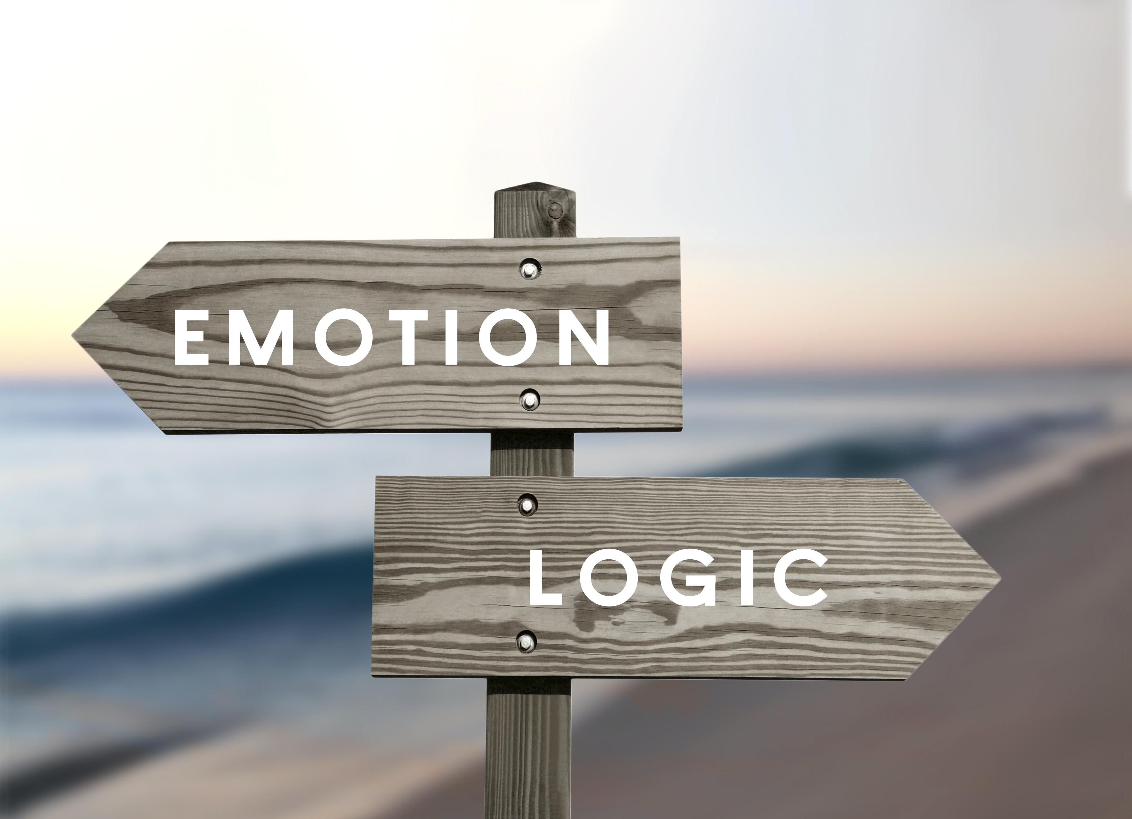 Emotion versus logic opposite direction