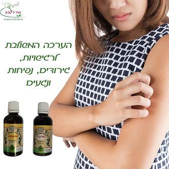 הערכה להרגעת רגישויות בעור סרפד ופסיפלורה