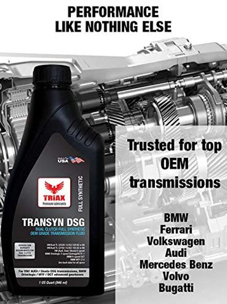 TRIAX TRANSYN DSG FULLY SYNTHETIC OIL - 946 ML