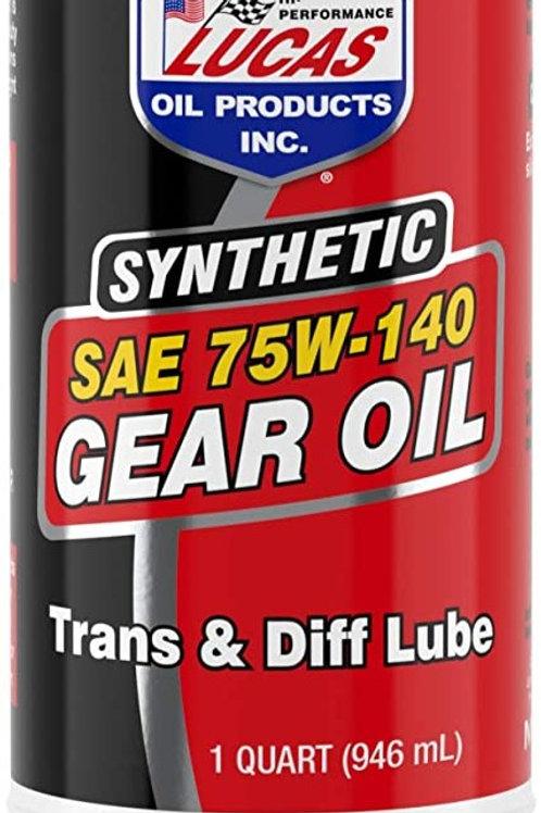 LUCAS OIL 75W140 SYNTHETIC GEAR OIL - 946ML