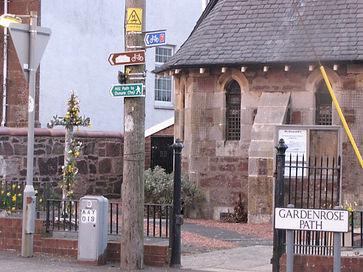 Sign for Gardenrose Path